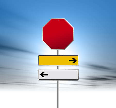 to obey: Road Sign Stock Photo