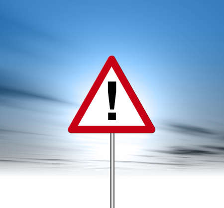 overload: Road Sign Stock Photo