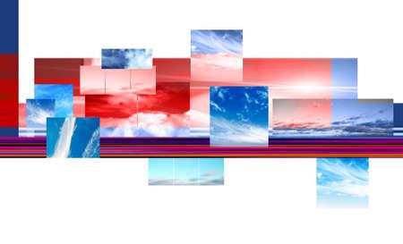 skys: Sky Montage Stock Photo