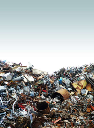 waste disposal: Junk Yard Stock Photo