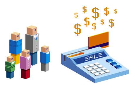 pay check: credit card Illustration