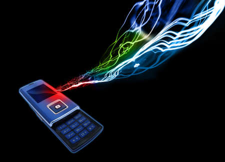 mobilephones: Mobile Cell phone Stock Photo