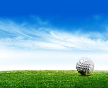 pelota de golf: Pelota de golf  Foto de archivo