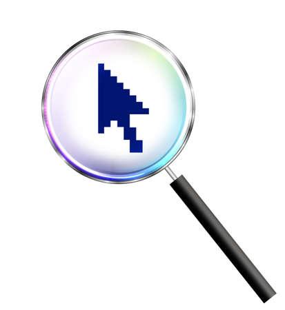 clic: Search internet Stock Photo