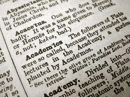 thesaurus: Academics