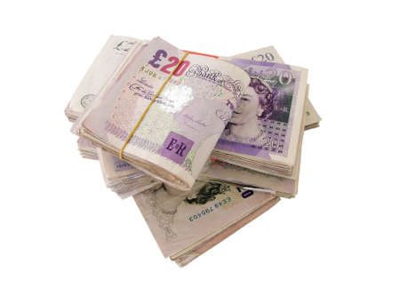 abundance money: UK Banknotes Stock Photo