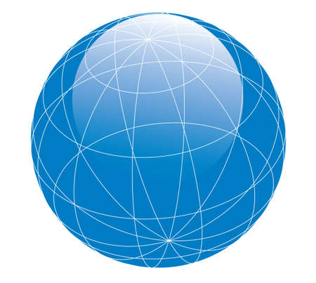 parallel world: Glossy globe Stock Photo