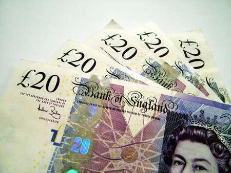 loot: Twenty pound notes Stock Photo