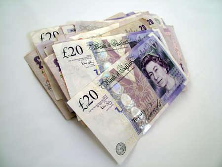 pounds money: Ingl�s billetes