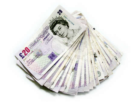 wad: english currency Stock Photo