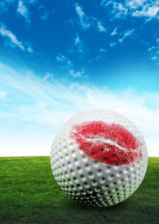 golf ball kiss photo