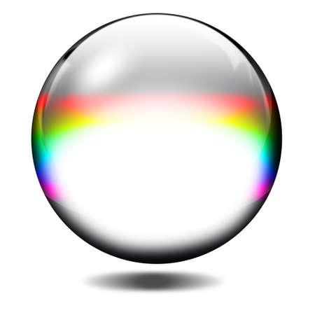 round glasses: Bola de cristal Foto de archivo