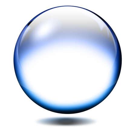 crystal clear: Glass ball