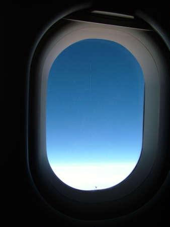 aeronautical: Aircraft window Stock Photo