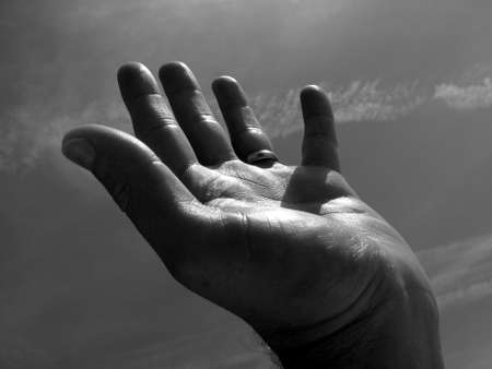 hand language: Human Hand Stock Photo