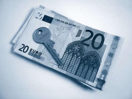 Euros and house key photo