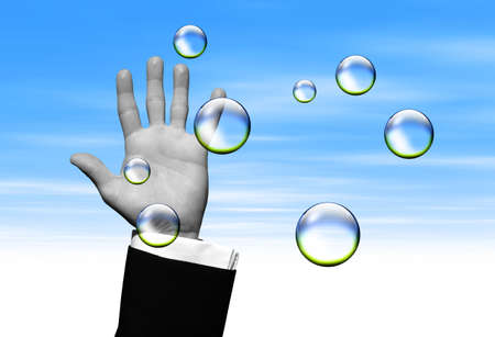 Catching Clear bubbles photo