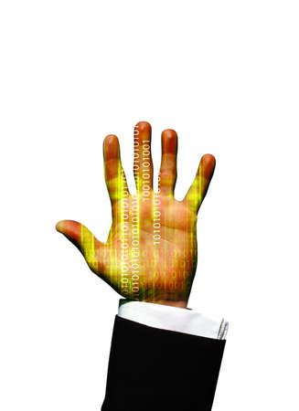 Data hand Stock Photo - 3022942