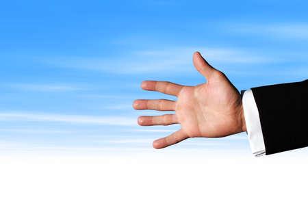 Businessman hand photo