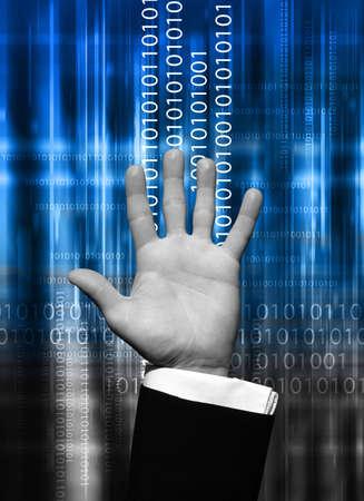 Data hand photo