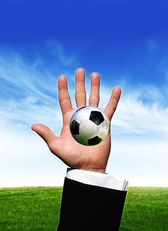 Football in hand Stock Photo - 3022577