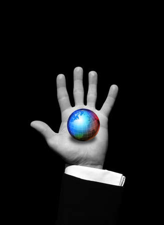 World in hand photo