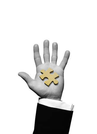 Puzzle in hand Stock Photo - 3027339