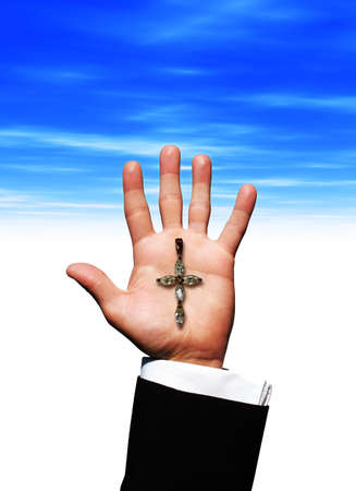 christianity palm sunday: Cross on hand