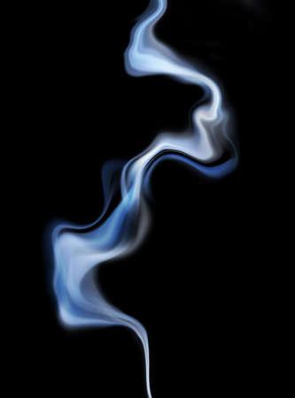 stop pollution: Cigarette smoke Stock Photo