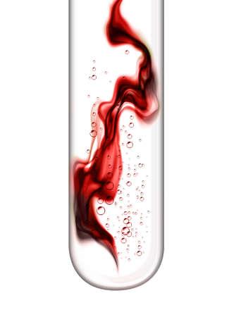 tubo de ensayo: Sangre en tubo de ensayo