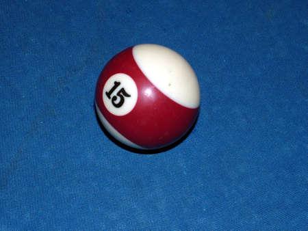 poolball: Number 15 pool ball