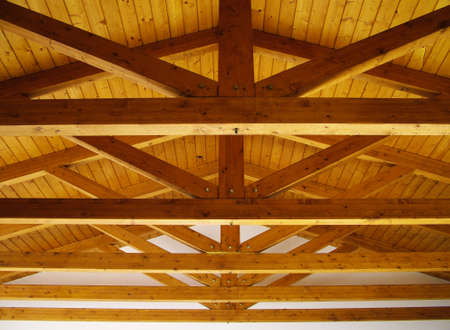 wooden beams: Wooden beamed ceiling