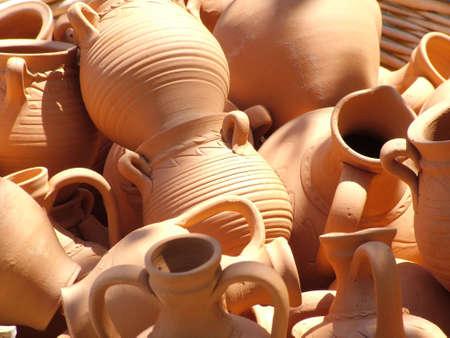 Ollas de cerámica Foto de archivo - 3509522