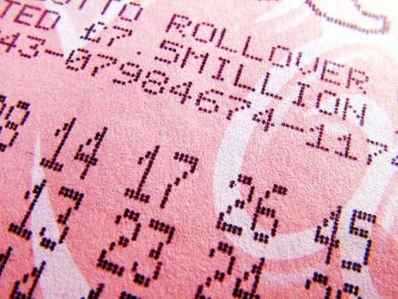 lottery: Loterij ticket