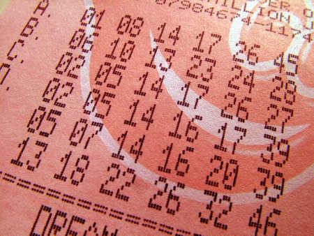loteria: Billete de Loter�a de Foto de archivo