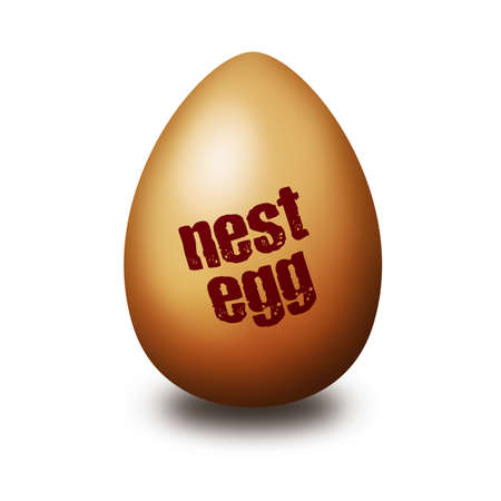 gniazdo jaj: lokowania oszczędności Zdjęcie Seryjne