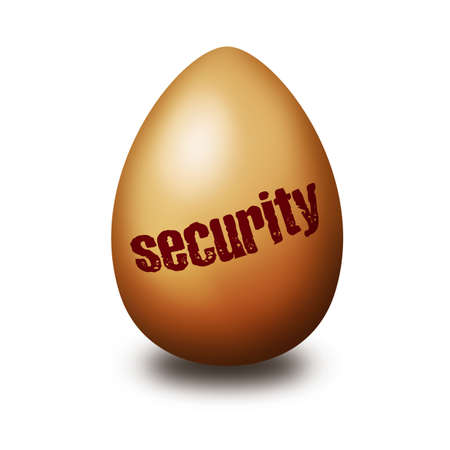 nestegg: Security egg Stock Photo