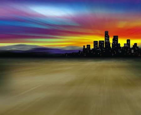 las vegas: City in desert Stock Photo