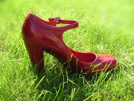 heel strap: Red shoe Stock Photo