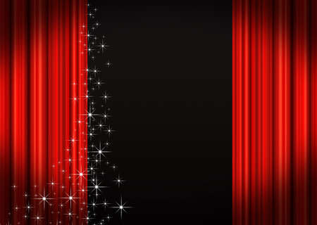 drapes: Red Stage curtains