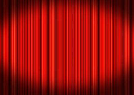 Red Stage-Vorh�nge