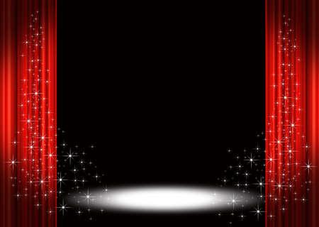 rideaux rouge: Rideaux de sc�ne rouge  Banque d'images