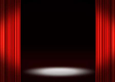 rideaux rouge: �tape rideaux rouges Banque d'images