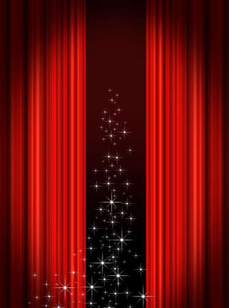 Red Stage curtains photo