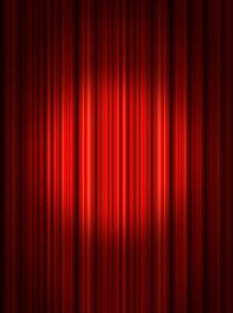 Spotlight on stage curtain photo