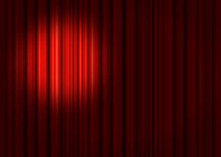 Spotlight on stage curtain Stock Photo - 3785438