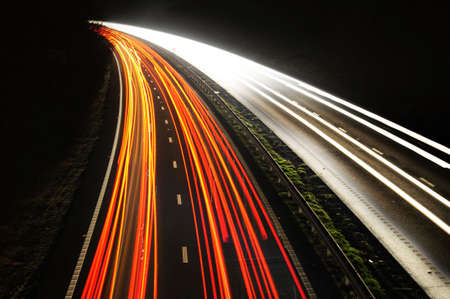 light trails: Tail lights