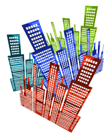 financial district: Skyscraper