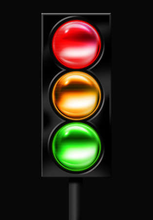 go sign: Traffic light