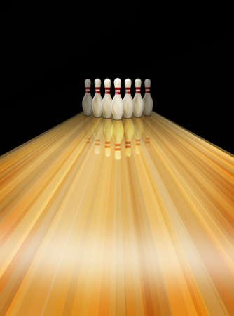 lanes: Bowling lane Stock Photo